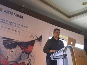 Delivered talk at the prestigious AO-trauma pelvic and acetabulum fracture course at Bengaluru in 2016