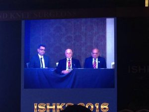 Panel discussion along with the legendary Dr.Ranawat at the ISHKS meeting-2016